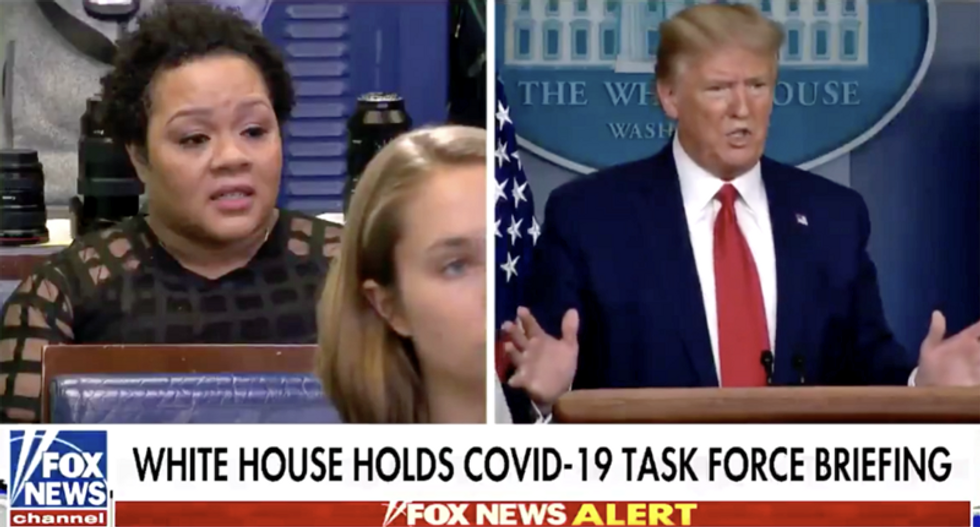 Trump offers a sarcastic apology when Yamiche Alcindor catches him in a lie