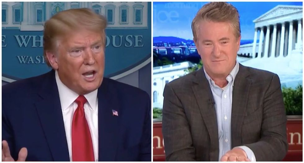 WATCH: MSNBC's Morning Joe laughs at Trump's 'psycho' Twitter attack in real time