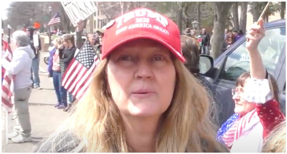 Trump supporter explains lockdown protest: Other people are dying but God will 'take care of us'