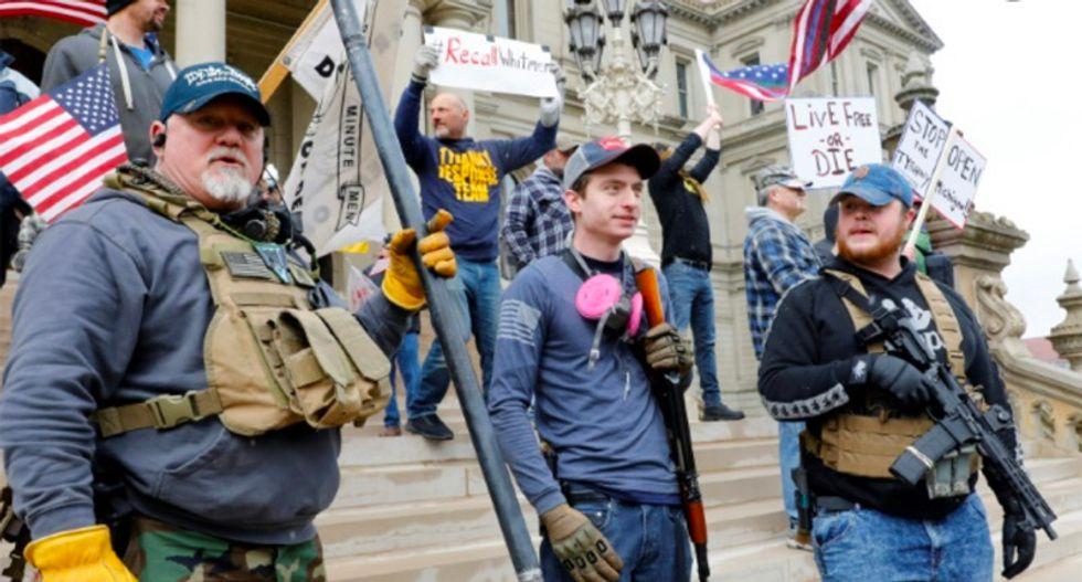 'Jesus is my vaccine': Coronavirus pandemic policy protestors echo Tea Party mania