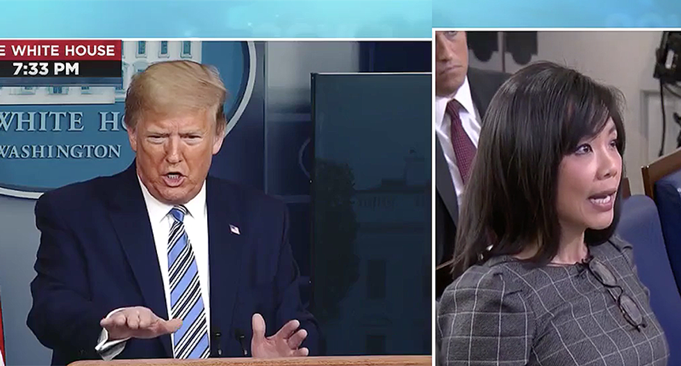 'Nice and easy. Just relax. Keep your voice down': Trump lashes out at CBS reporter asking tough questions