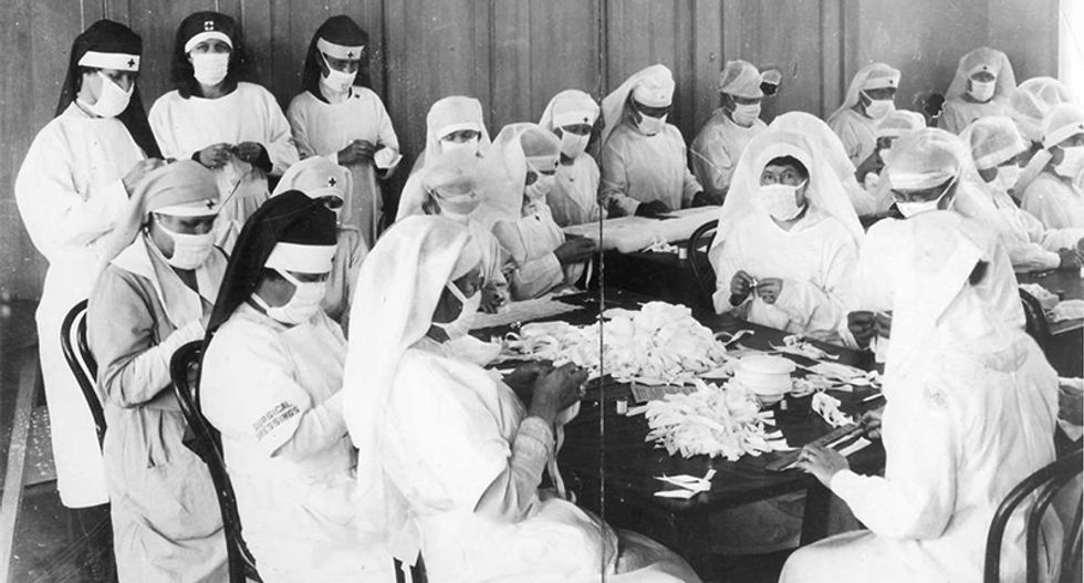 The 'Spanish' flu outbreak of 1918 is playing out just like 'reopen' protesters are in 2020: report