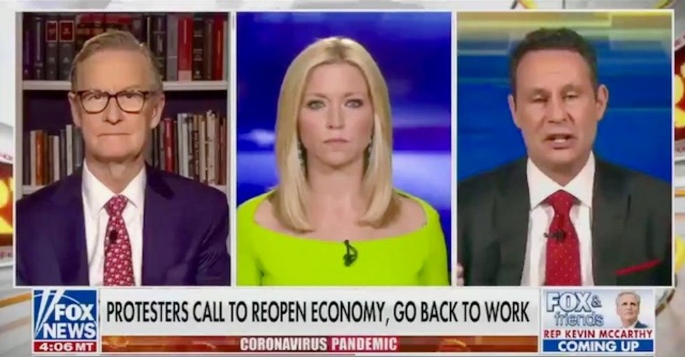 Fox and Friends praises and promotes dangerous stay-at-home protests – then claims Americans have shown 'responsibility'