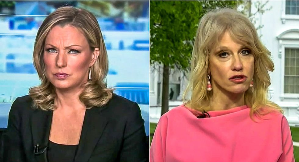 'He saved millions of lives': Kellyanne Conway melts down when asked about Trump instigating protests