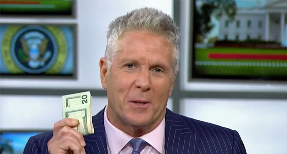 'I have a lot of cash': Donny Deutsch pulls out wad of bills on MSNBC to bet Brett Kavanaugh won't be confirmed