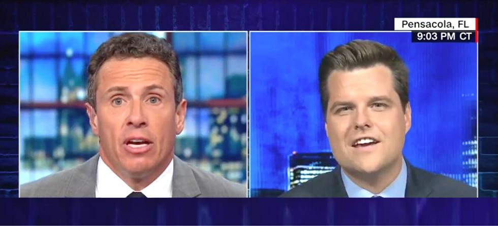 Republican Rep Matt Gaetz goes down in flames against Chris Cuomo with weak defense of Brett Kavanagh