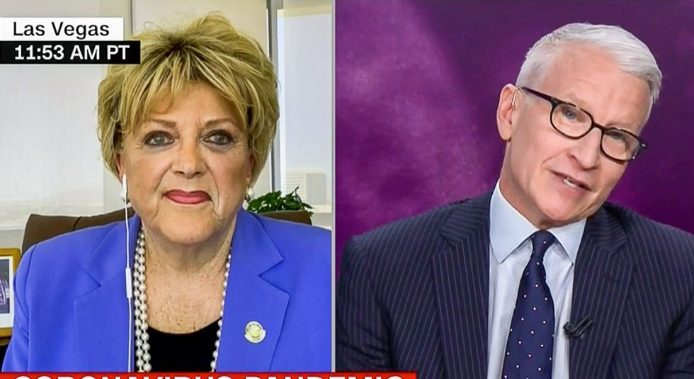 'That's really ignorant': Anderson Cooper destroys Las Vegas mayor as she argues to reopen casinos