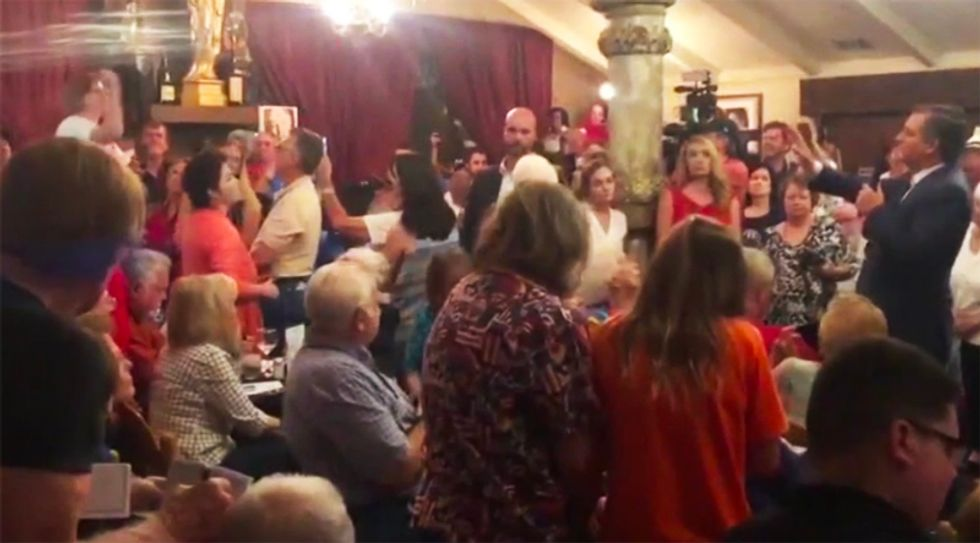WATCH: Grieving Santa Fe mother confronts Ted Cruz at rally over his inaction on gun violence