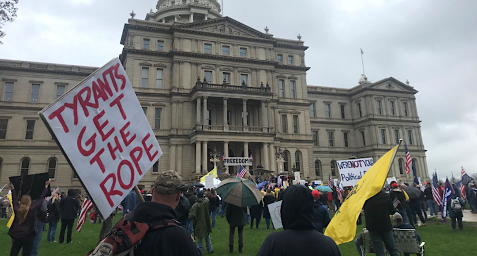 'Tyrants get the rope': Michigan protester calls for governor's hanging over stay-at-home orders