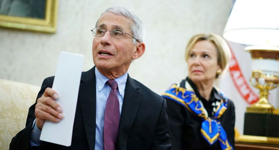 Trump battered by health experts for shoving Fauci and Birx offstage while the COVID-19 death tolls climbs