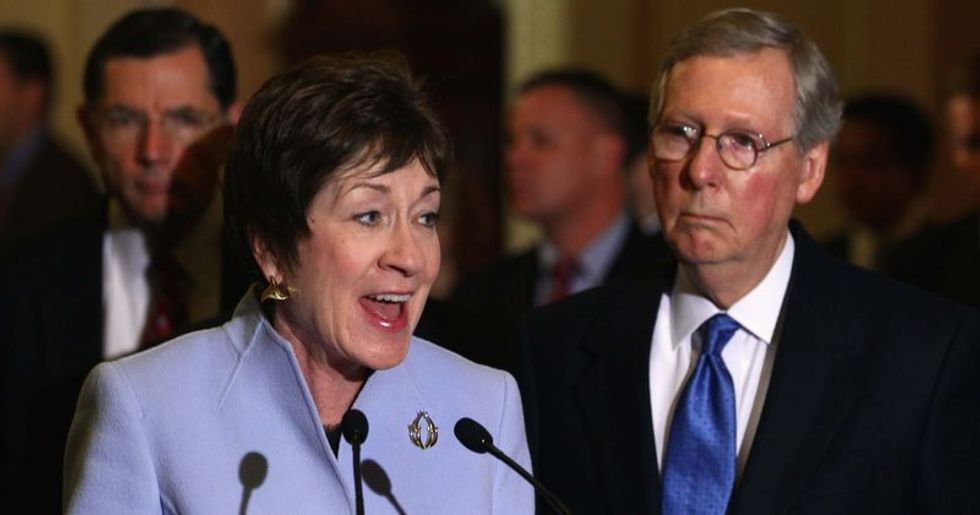 Mitch McConnell is pouring dark money into Maine to save Susan Collins from electoral doom