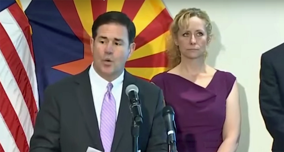 Trump-loving Arizona governor decries 'smear attack' after he's caught on camera at party with no masks