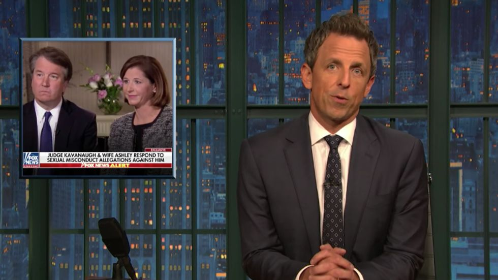 Seth Meyers puts comedy aside to completely destroy Brett Kavanaugh after Fox News interview