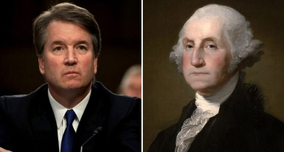 Trump cites George Washington's slaveholding past in defense of Brett Kavanaugh