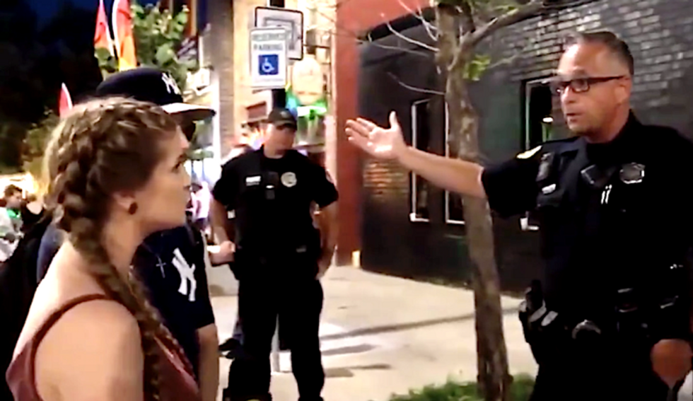 WATCH: Cop goes viral after calmly shutting down Trump-loving 'Gun Girl' with some simple logic