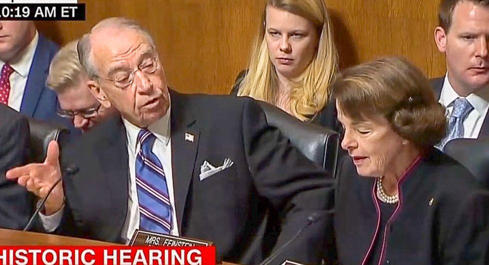 Chuck Grassley kicks off Christine Blasey Ford sexual assault hearing by interrupting Diane Feinstein