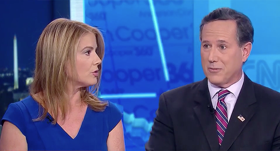 'It's not persecution when someone disagrees with you': Panel makes a fool out of Santorum for a second time in one night
