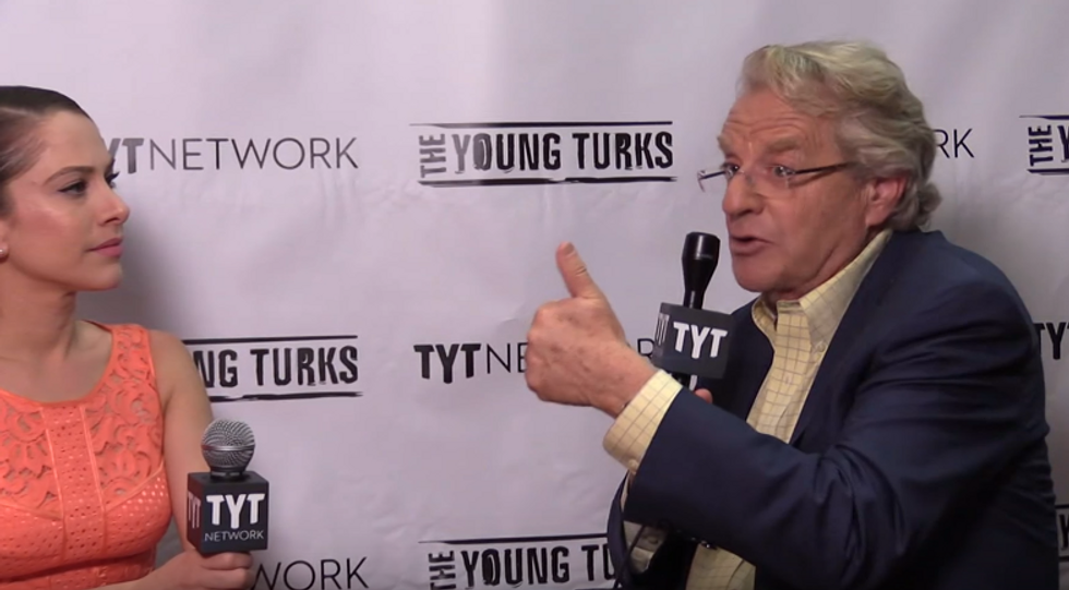Jerry Springer urges 'Bernie or Bust' fans to reconsider: 'Think of the consequences' for minorities