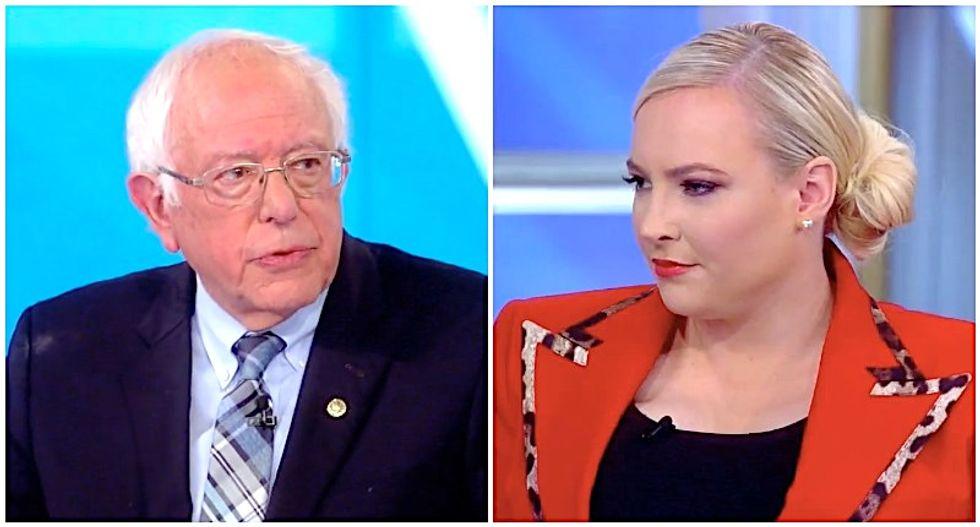 The View's Meghan McCain seethes as Bernie Sanders explains how GOP killed bipartisanship