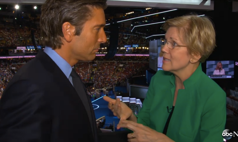 'Oh, come on': Elizabeth Warren shuts down reporter who asked if it's mean to call trump a racist