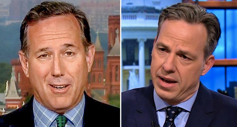 CNN's Jake Tapper schools Rick Santorum after he shamed media for 'overreacting' when Trump calls himself 'nationalist'