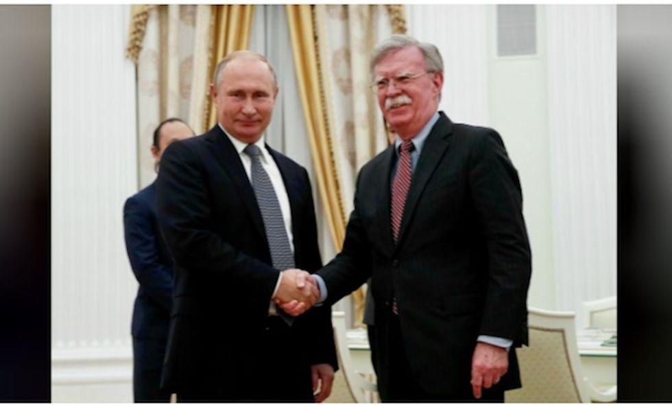 Trump adviser John Bolton tells Putin: We'll quit arms control treaty you're breaking