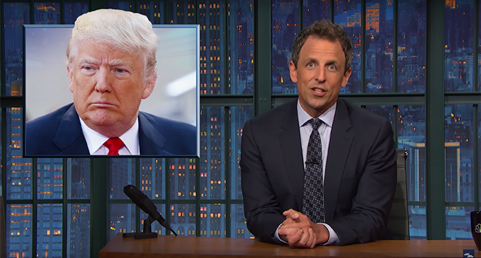 Seth Meyers rips Trump for asking Russia to hack Clinton: 'I'm sure he has his treasons'