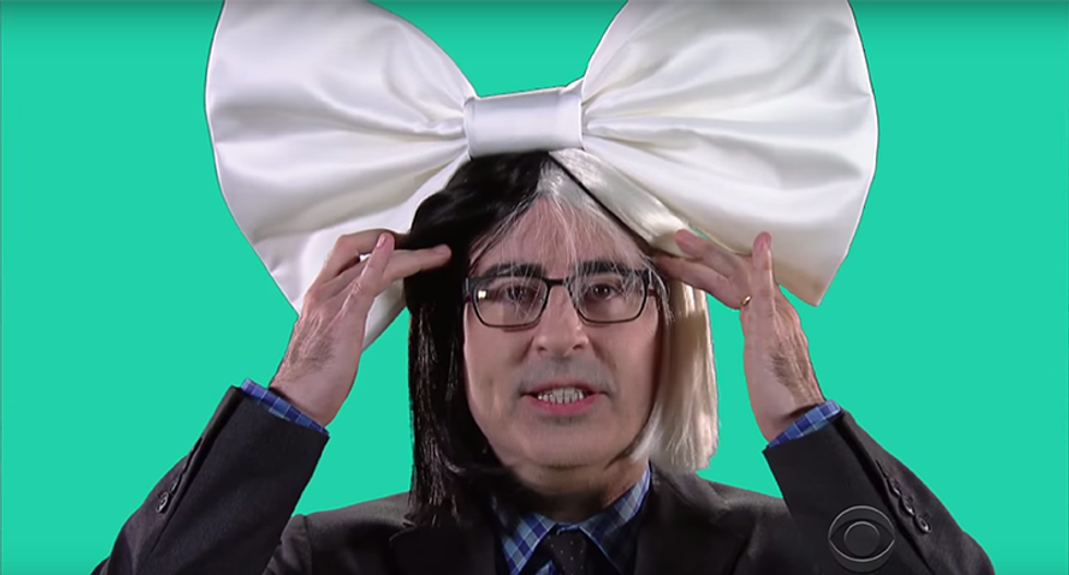 John Oliver joins Stephen Colbert for their own version of Clinton's 'Fight Song' video