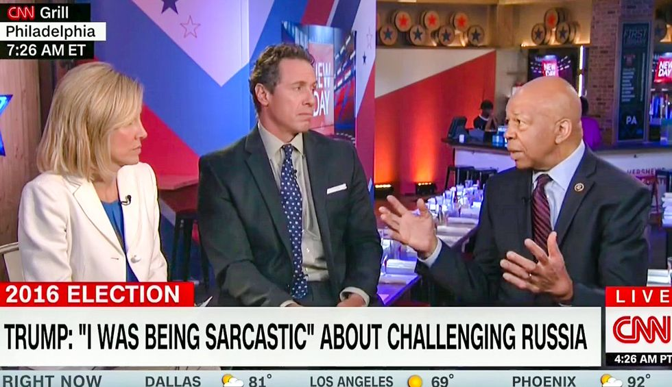 'Stop excusing him': Elijah Cummings derails CNN interview for 'ridiculous' Trump double standard