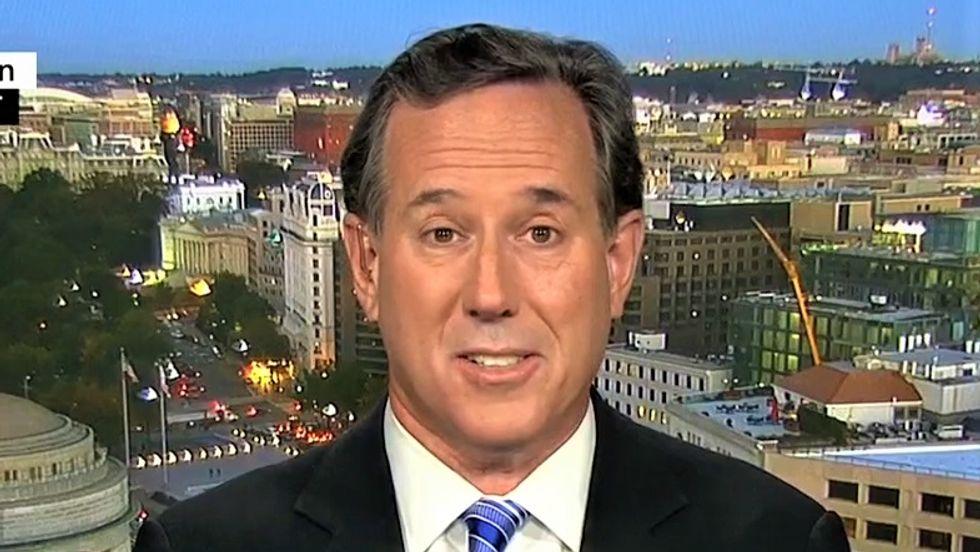 CNN's Rick Santorum excuses Trump's blatant lying to Americans: 'It's the president's shtick'