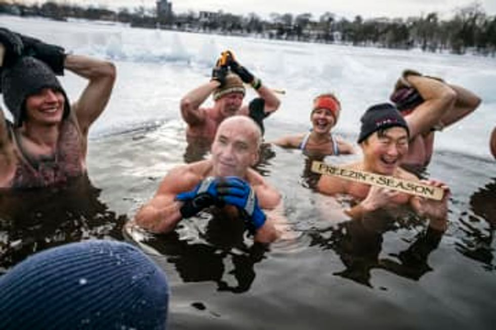 Meet the people who think soaking in a frozen Minneapolis lake is the secret to good health