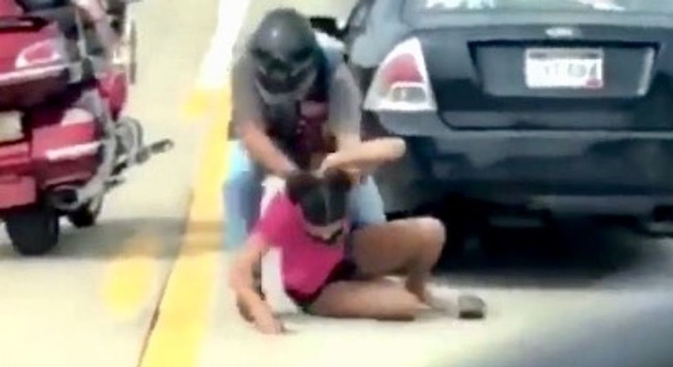 WATCH: Retired sheriff's deputy charged with battery after a violent road rage altercation