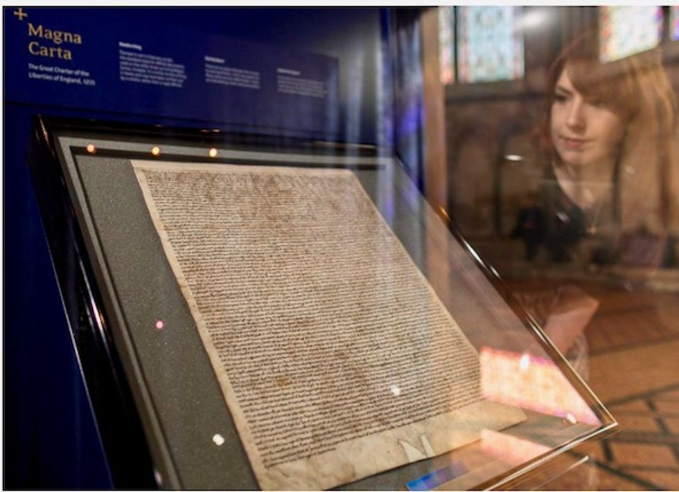 Man held after attempted theft of Magna Carta from Salisbury cathedral