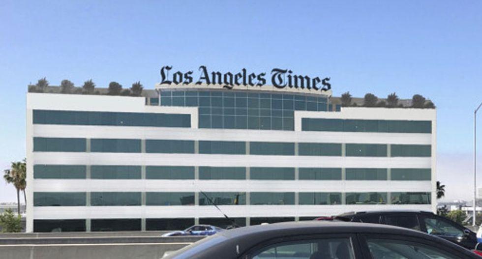 LA Times says hazmat team on scene after suspicious envelopes discovered: report