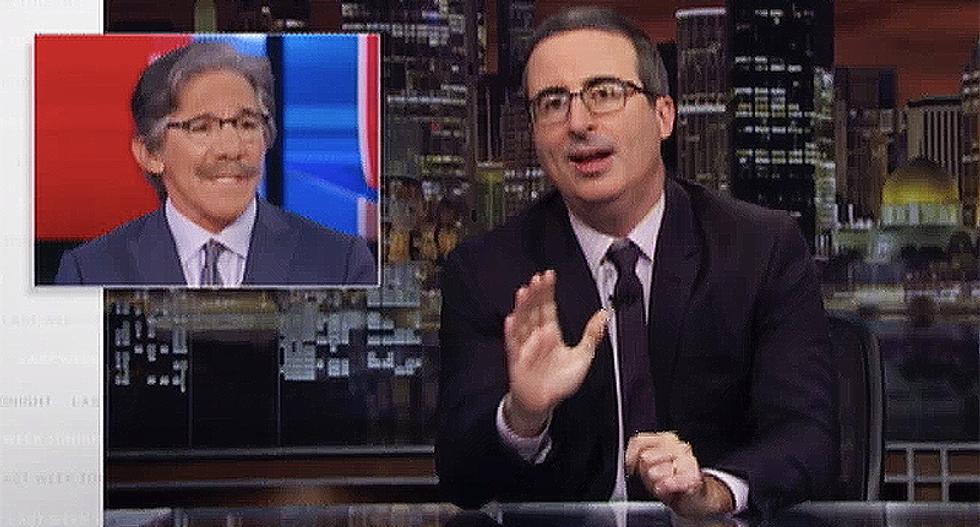 John Oliver creates a special coronavirus test just for Fox News host Geraldo Rivera