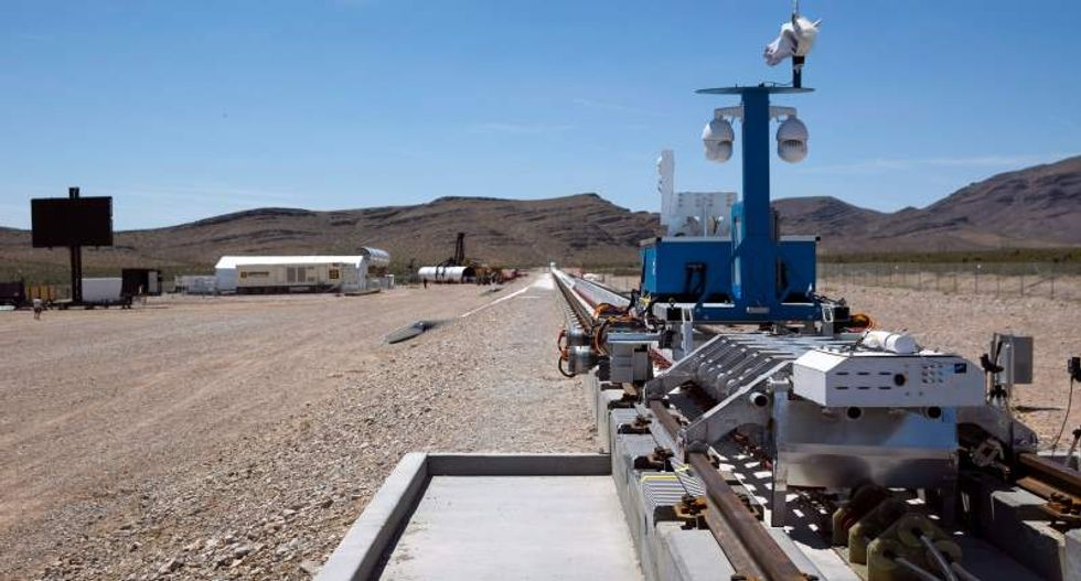 Watch the first test of 'Hyperloop' that could ferry passengers between L.A. and San Francisco