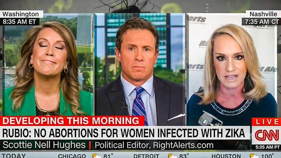 Trump surrogate Scottie Nell Hughes: Ban abortion for Zika because birth defects are 'nothing new'
