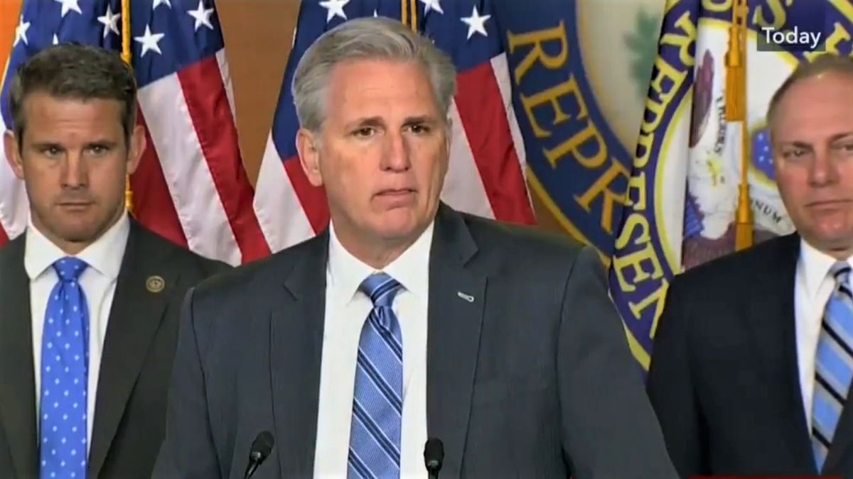 Kevin McCarthy sends out text bashing 'Corrupt Joe Biden' within minutes of finishing White House infrastructure meeting