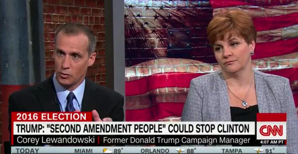 'I don't know what he meant': Corey Lewandowski flames out defending Trump's '2nd Amendment' remark