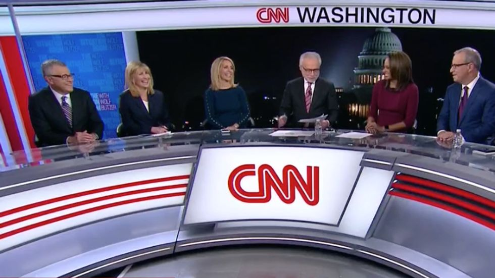 CNN panel bursts into laugher after Trump proclaims midterm election is all about him