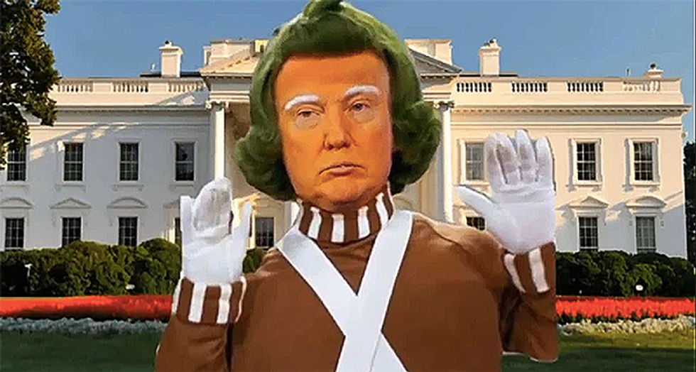 Are the dead 'blessed'? Critics shocked by 'used car salesman' Trump's 'weird Oompa Loompa video'