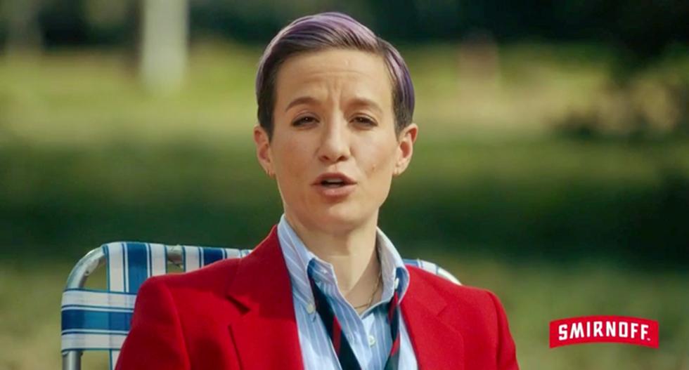 WATCH: Smirnoff airs hilarious Megan Rapinoe ad urging voters to drink responsibly during debate