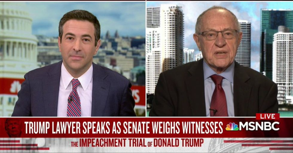 Trump lawyer Alan Dershowitz: 'I was brought in not to argue the facts' -- but the Constitution