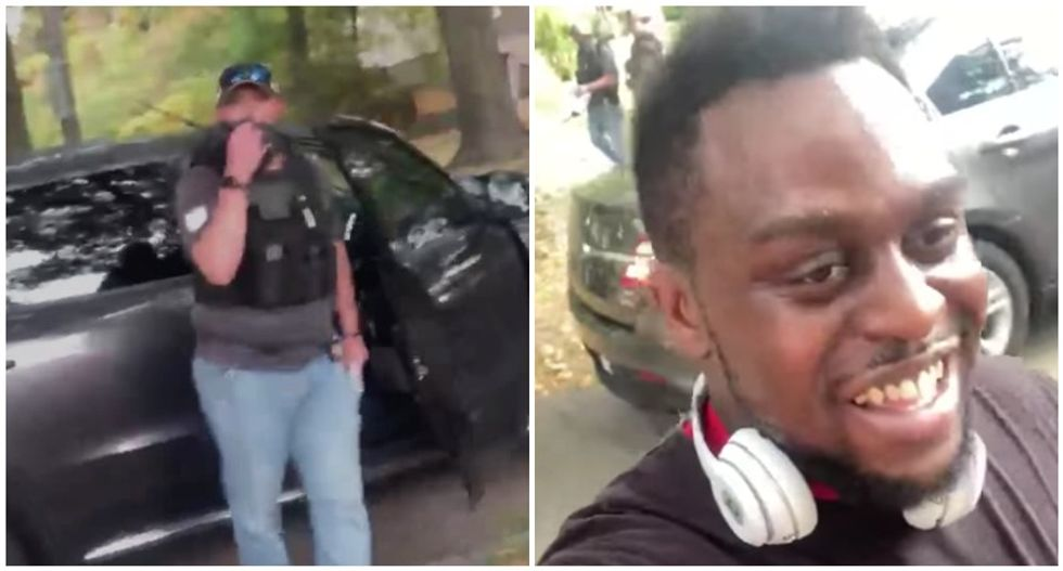 Black man stopped by alleged ICE agents while jogging in his own neighborhood