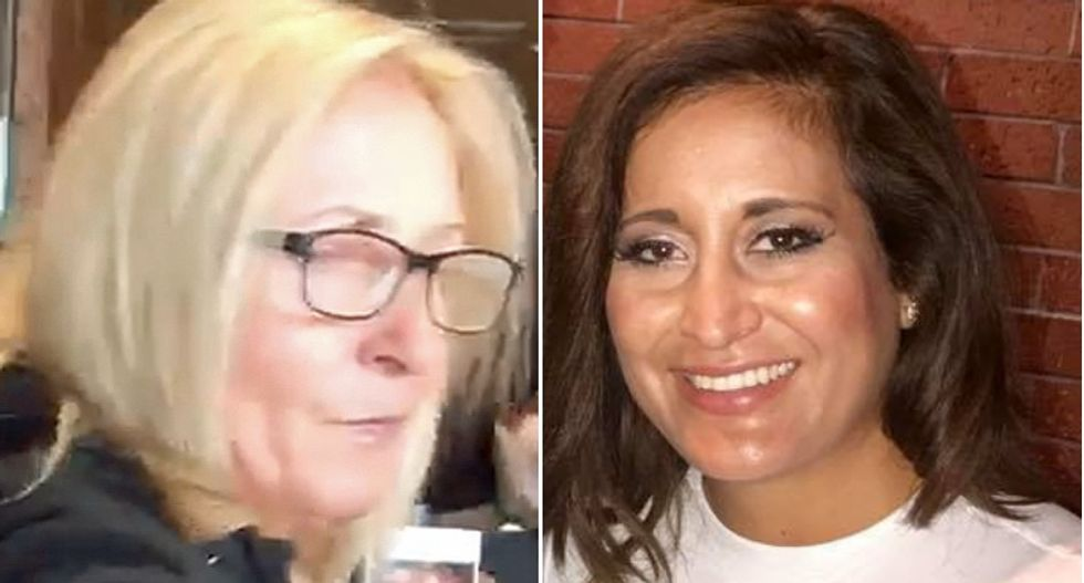 Community rallies around a 'proud American' Latina after a racist white woman tells her minorities will be 'wiped out'