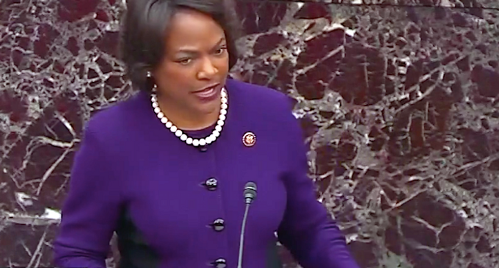 'This is enough to prove extortion': Val Demmings challenges GOP senators to convict Trump over Ukraine