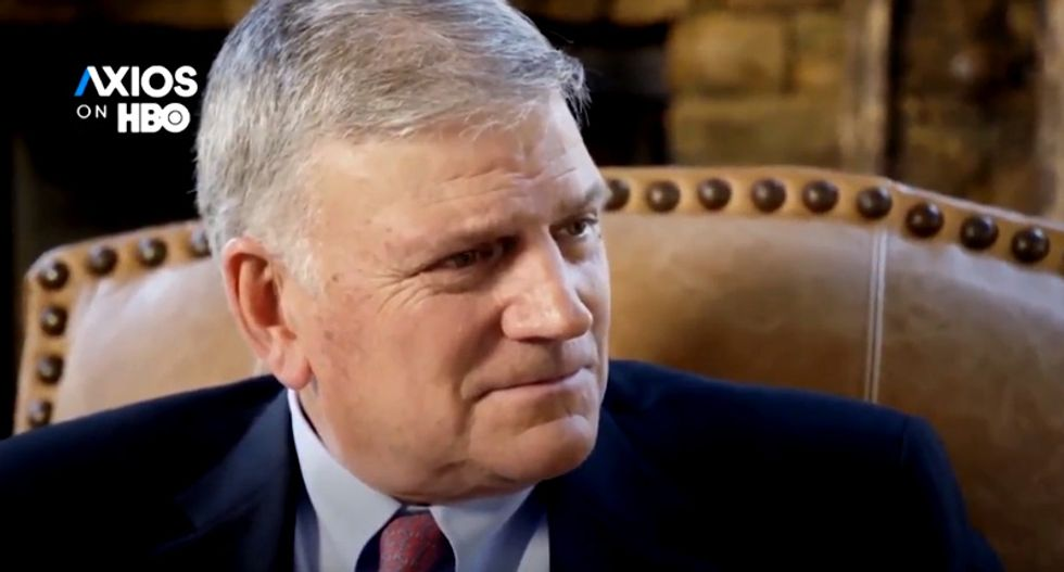 Evangelist Franklin Graham desperately insists Trump is a defender of the faith -- despite his 'sordid life'