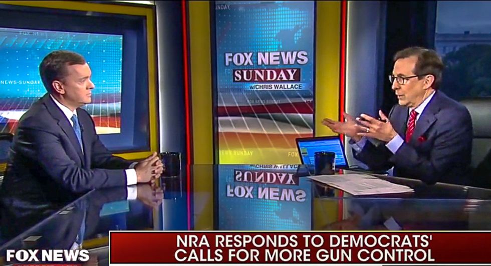 'That's actually not true': Chris Wallace tears NRA executive director a new one for lying about gun control