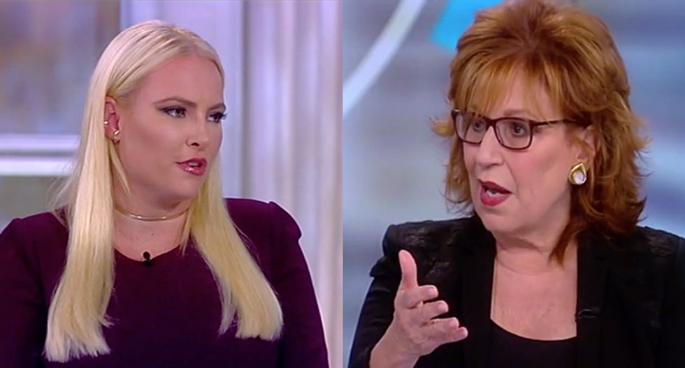Joy Behar calls BS on Meghan McCain for claiming that 'Trump's success' is the same as 'America's success'