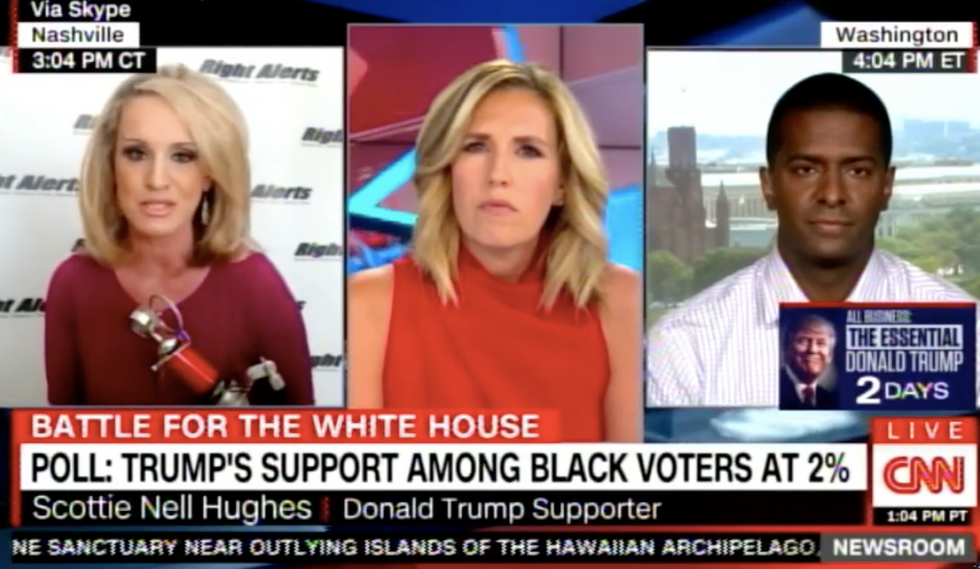 'Scottie, that is not factual': Trump surrogate gets shut down for blaming 'Birtherism' on Clinton